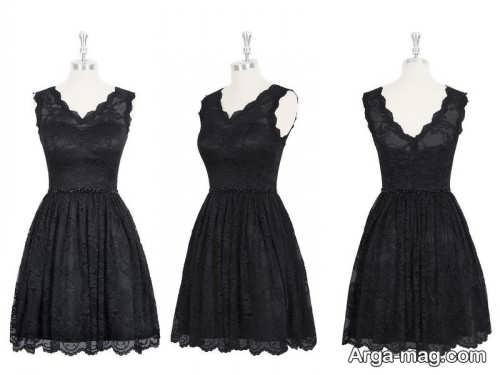 مدل لباس گیپور کوتاه یقه هفت