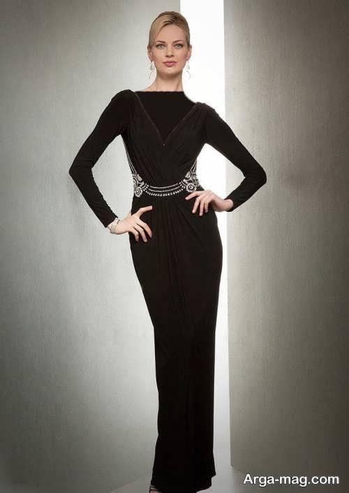 مدل لباس مجلسی زنانه یقه هفت