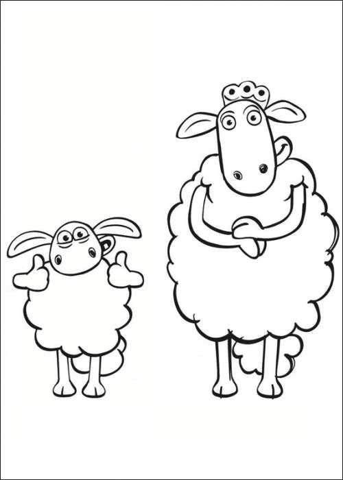 نقاشی زیبا و جالب گوسفند