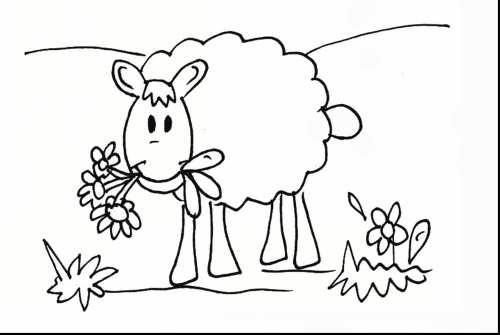 نقاشی صحرا و گوسفند