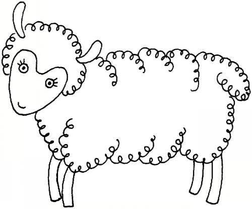 نقاشی چالب گوسفند برای کودکان دختر و پسر