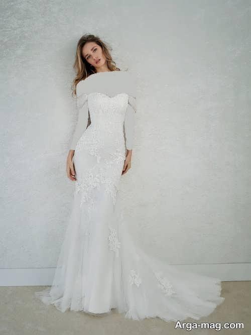 لباس عروس زیبا و جدید بدون آستین
