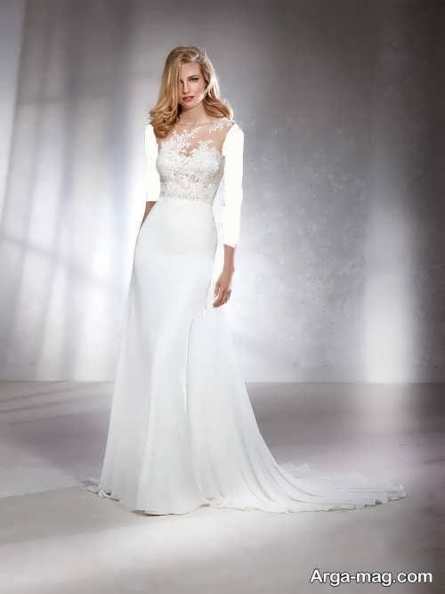 مدل لباس عروس شیک بدون آستین
