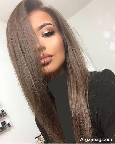 رنگ موی شکلاتی دودی زنانه