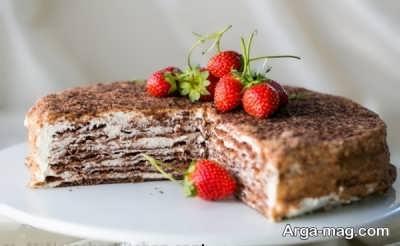 کیک اسپارتاک شکلاتی