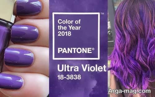 رنگ مد سال 2018رنگ مو و رنگ لاک ناخن در سال 97