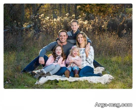 ژست عکس زیبای خانوادگی