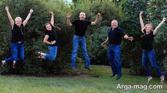 عکس خانوادگی با روش ست کردن
