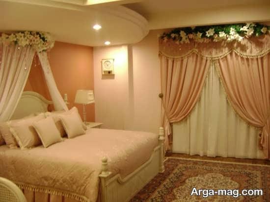 چیدمان زیبای تخت عروس