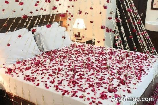 دکوراسیون زیبای تخت عروس
