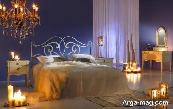 تزیین اتاق عروس با نور شمع