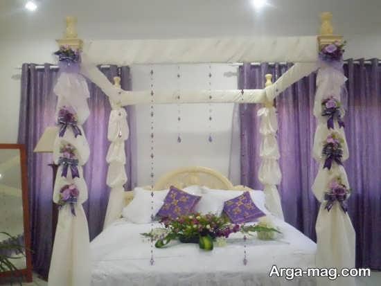 تزیین زیبای تخت عروس
