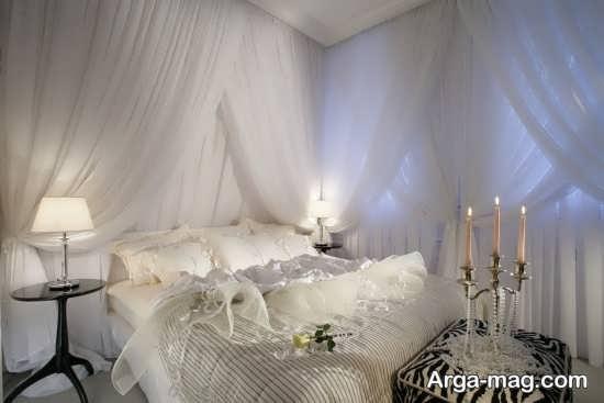 چیدمان ایده آل تخت خواب مخصوص شب عروسی