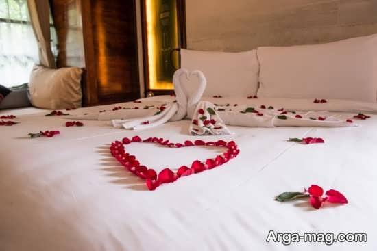 تزیین رمانتیک تخت خواب