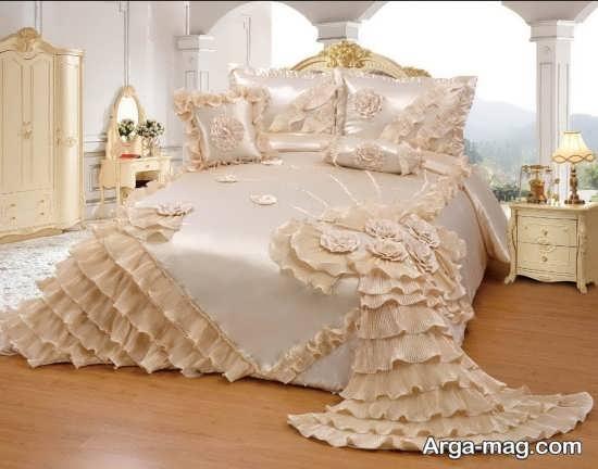 تزیین عالی تخت خواب عروس