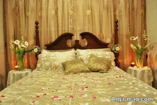 تزیین ایده آل تخت خواب عروس