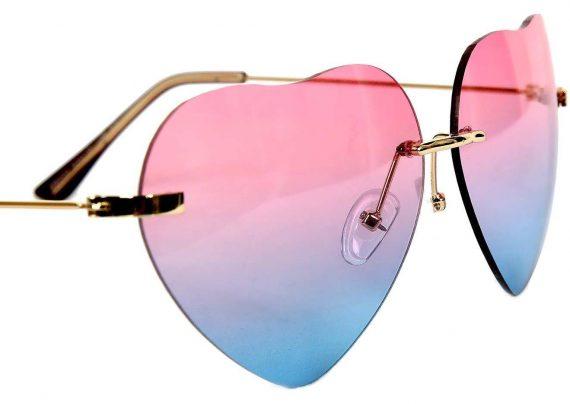 مدل عینک آفتابی زنانه با قاب قلبی