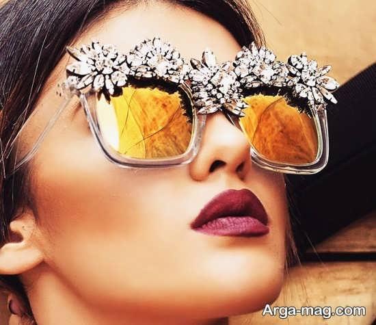 عینک آفتابی کار شده و زنانه