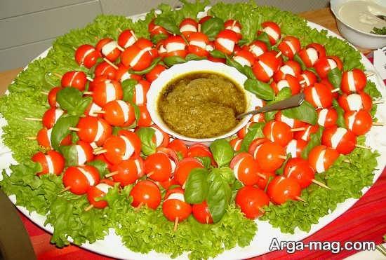 تزیین غذا با استفاده از سبزیجات