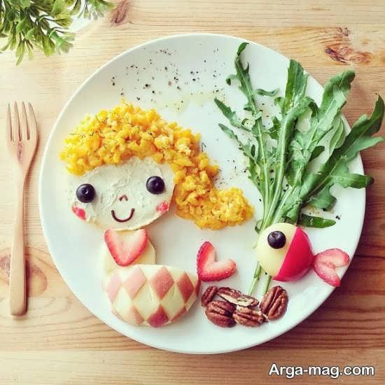 تزیین کردن ظرف غذا با خلاقیت