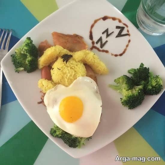 تزیین ظرف غذا کودک
