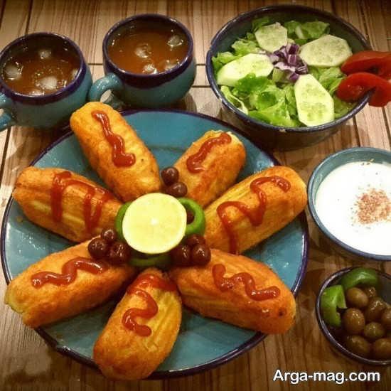 تزیین ظرف غذا با سس