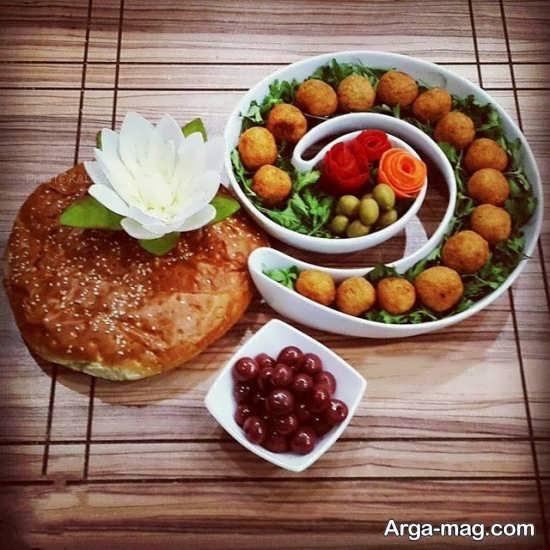 تزیین ساده و شیک غذا