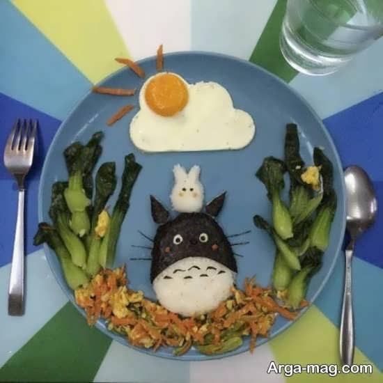تزیین ظرف شام