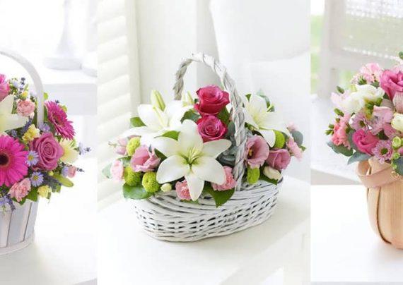انواع زیبای سبد گل برای خواستگاری