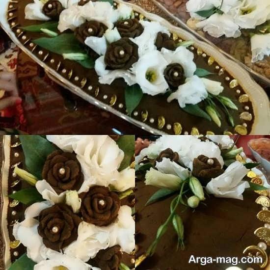 تزیین حنای حنابندان به شکل گل رز