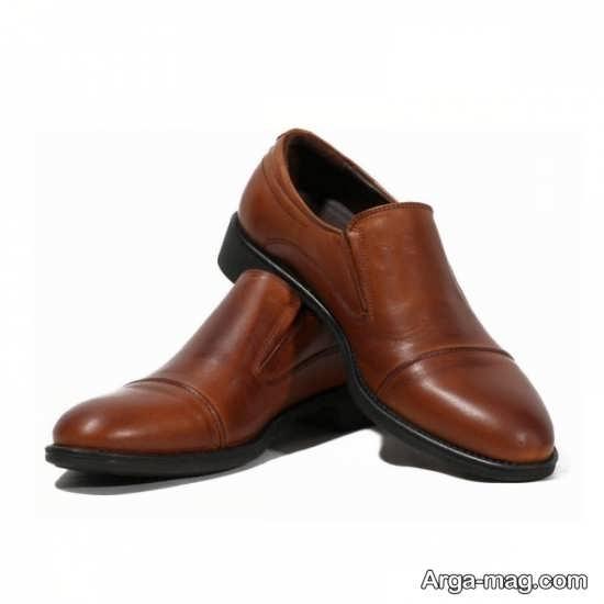 کفش چرم مردانه ساده