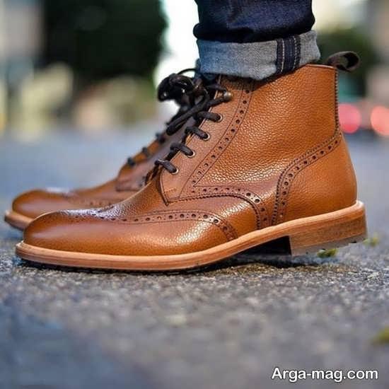 مدل کفش چرم بوت دار