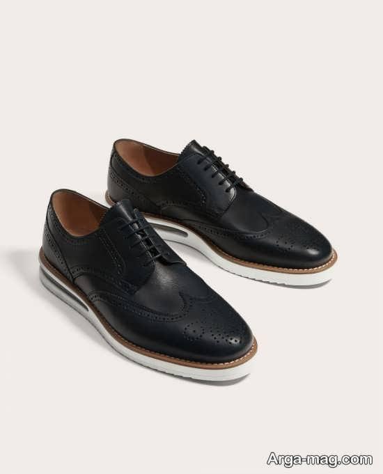 کفش چرم اسپرت مردانه
