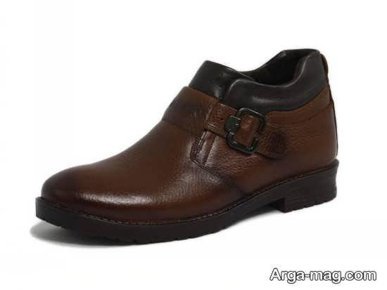 کفش زمستانی چرم مردانه
