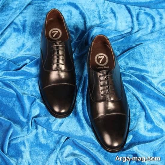 کفش چرم دامادی مردانه