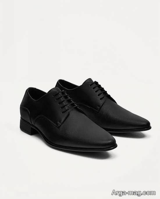 کفش چرم مردانه نوک تیز