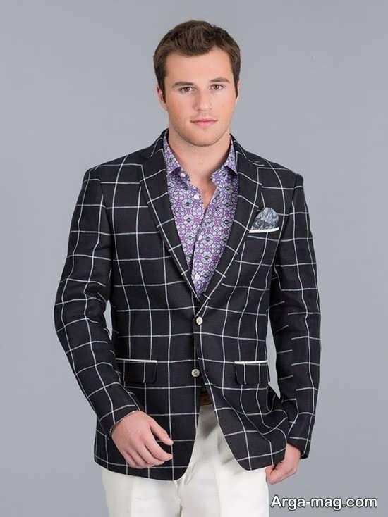 مدل کت مردانه پارچه ای