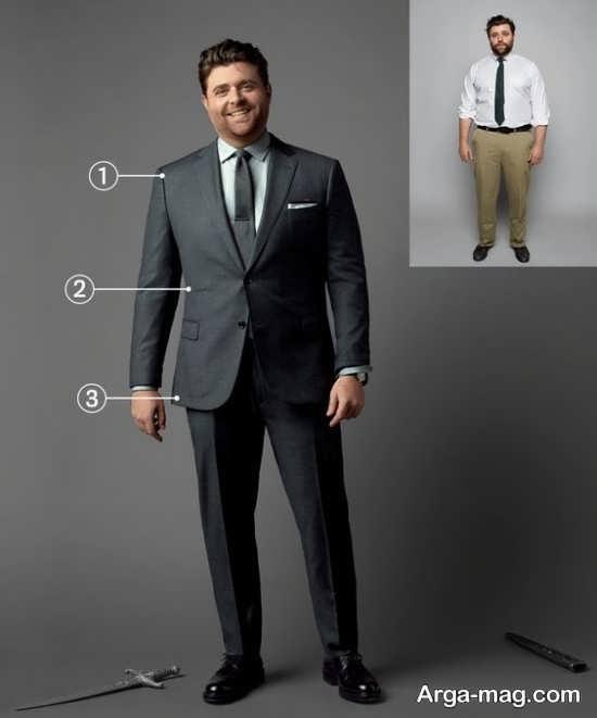 کت و شلوار سایز بزرگ مردانه
