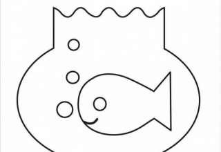 نقاشی تنگ ماهی به روش ساده و زیبا