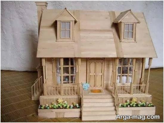 making house with ice cream sticks 10 - ایده های خلاقانه برای ساخت خانه با استفاده از چوب بستنی