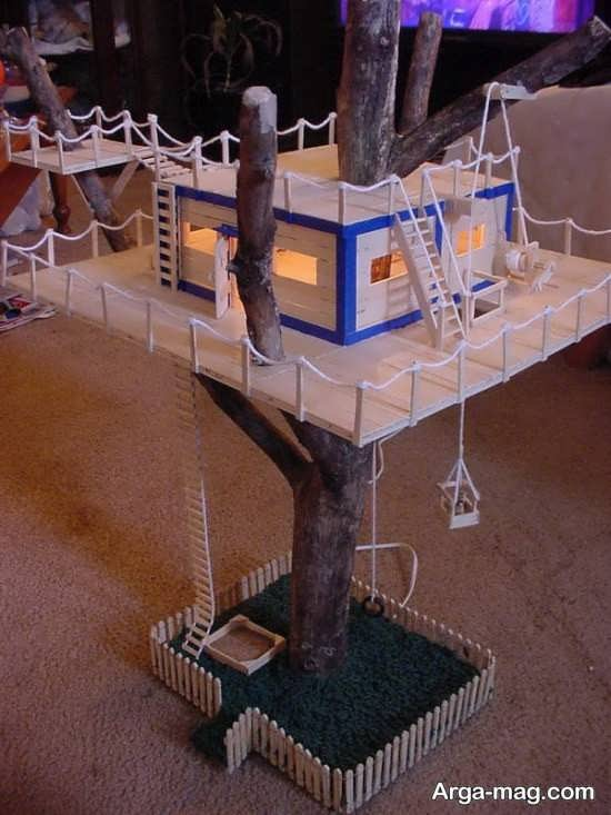 making house with ice cream sticks 14 - ایده های خلاقانه برای ساخت خانه با استفاده از چوب بستنی