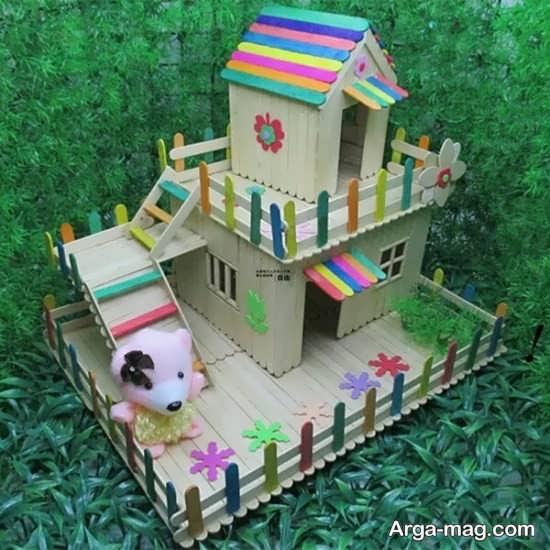making house with ice cream sticks 16 - ایده های خلاقانه برای ساخت خانه با استفاده از چوب بستنی