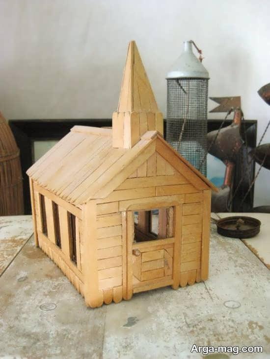 making house with ice cream sticks 19 - ایده های خلاقانه برای ساخت خانه با استفاده از چوب بستنی
