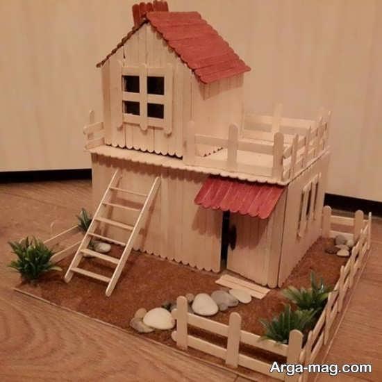 ساخت خانه ای جذاب با چوب بستنی