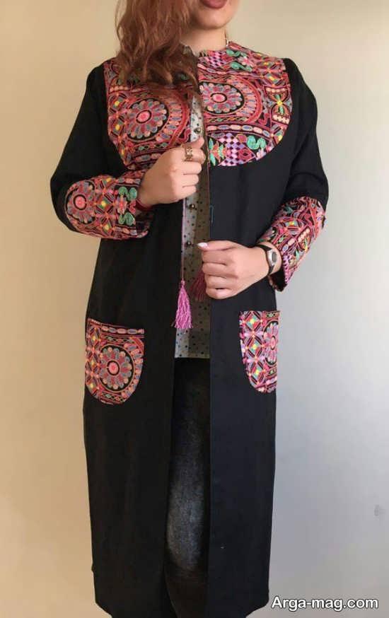 مانتو سنتی دخترانه تکه وزی