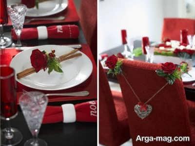 تزیین میز رزوی ولنتاین