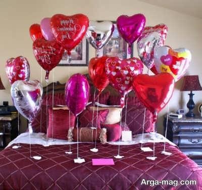 تزیین اتاق خواب برای ولنتاین
