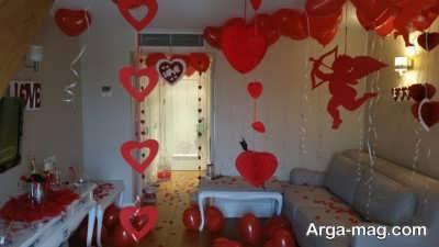 ایده تزیین اتاق برای ولنتاین