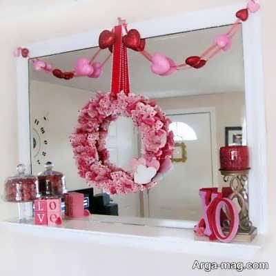 تزیین فضا با حلقه گل برای ولنتاین