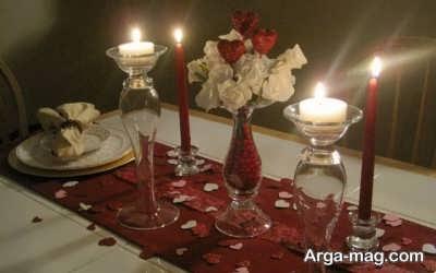 تزیین میز دونفره و رمانتیک